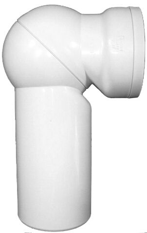 HL210.WE WC-csatlakozó DN110, 0 – 90° -ig fokozat nélkül szögbe állítható, ajakos tömítéssel