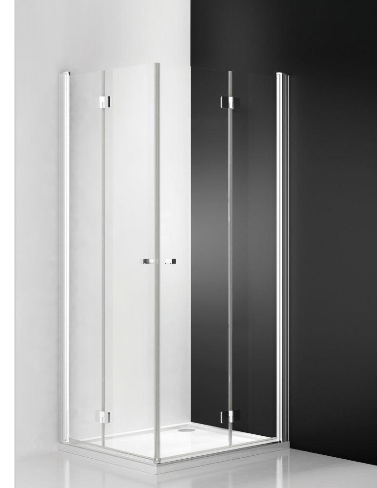Roltechnik TZOL1+TZOP1/800 szögletes zuhanykabin / 80x200 cm / brillant profillal / transparent üveggel