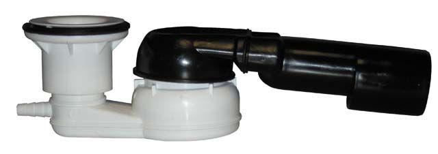 """HL514/SNV.0 Zuhanytálca szifon, vízszintes DN40/50x6/4"""" gömbcsuklós kimenettel, d 8-13 tölő csatlakozóval, fedél nélkül"""