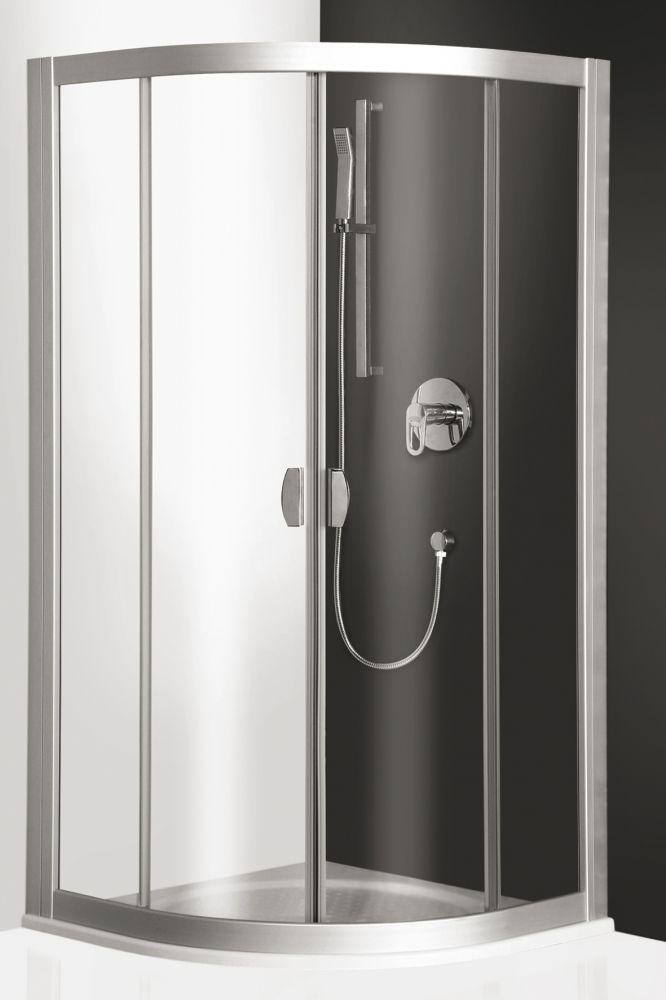 Roltechnik ECR2/1000 íves zuhanykabin / 100x185 cm / ezüst profillal / transparent üveggel