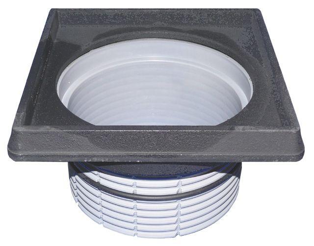 HL608.1 Magasító elem d 195mm/260x260 öntöttvas kerettel