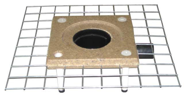 HL510NCK Padlólefolyó test CeraDrain polymerbeton karimával, DN50/75/110 vízszintes kimenettel