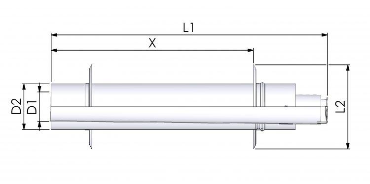 Tricox AAPA70 Alu/Alu parapet 100/150mm 2db takaró lemezzel