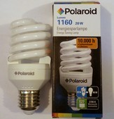 POLAROID 1160 LUMEN  energiatakarékos izzó spirál 20W=86W E27-es foglalat