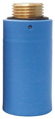 """HL42B.MS Vakdugó 1/2"""" sárgaréz menettel (kék)"""