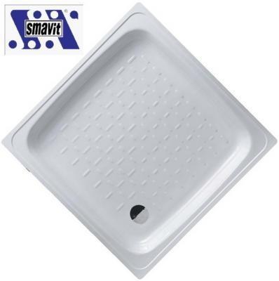 SMAVIT acéllemez / lemez zuhanytálca szögletes 80x80 cm (80x80x16 cm)
