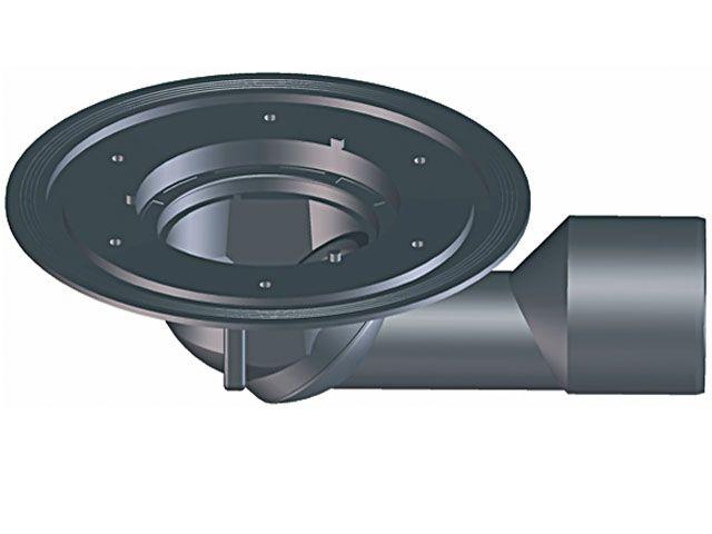 HL80K Balkon- és teraszlefolyó test DN50/75 elfordítható kimenettel
