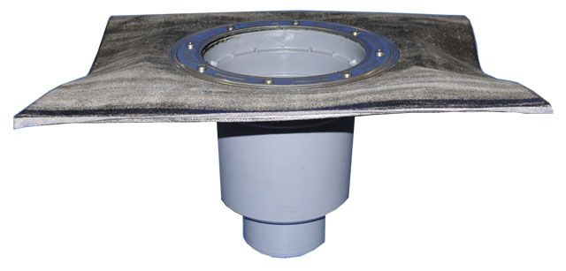 HL616KH/5 Perfekt lefolyó test DN160 függőleges kimenettel, gyárilag felhegesztett bitumengallérral