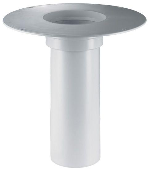 HL65P Szigetelő karimás magasító elem PVC szigetelő tárcsával (345mm / d 125mm)