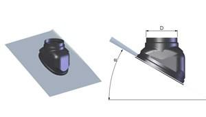 Tricox FT30C Ferde tető borítás 100-125mm