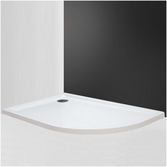 ROLTECHNIK FLAT ASYMMETRIC íves aszimmetrikus zuhanytálca, jobbos, 120×80 cm