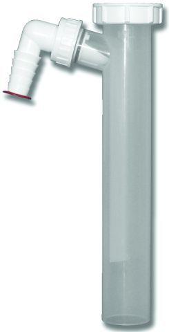 HL13.0/40 Bekötőcső (átlátszó) DN40x6/4' mosógép-csatlakozóval