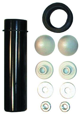 HL226 Csatlakozó készlet fali WC-hez öblítőcsővel, gumimandzsettával, anyákkal és védősapkákkal